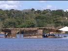 Baixa no rio Tocantins prejudica área de banho em praia de Tocantinópolis