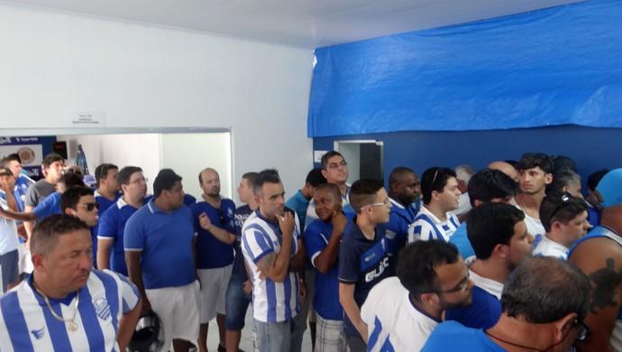Torcida do CSA no Mutange (Foto: Augusto Oliveira/GloboEsporte.com)