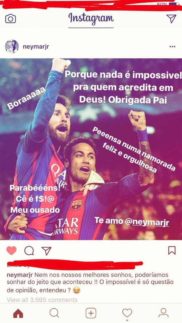 Bruna Marquezine faz post se declarando a Neymar (Foto: Reprodução / Instagram)