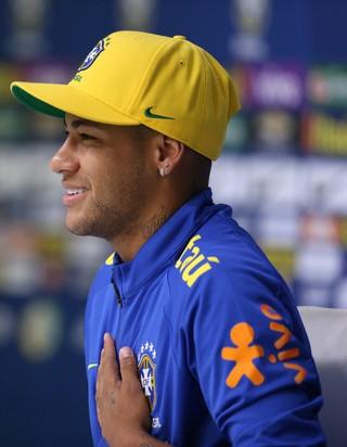 Neymar entrevista coletiva seleção brasileira olímpica (Foto: Lucas Figueiredo/MoWA Press)