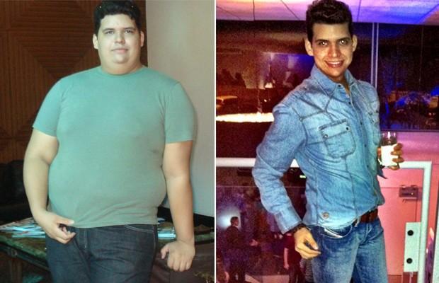 FORÇA DE VONTADE O piauense Mauro Estrêla conseguiu emagrecer 75 quilos só com dieta e exercícios físicos (Foto: Arquivo pessoal)