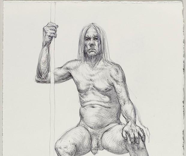 Desenho de Iggy Pop nu (Foto: Divulgação/Brooklyn Museum)