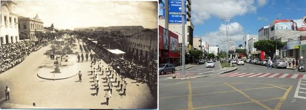 Avenida Rio Branco, em Caruaru (Foto: Acervo/Fafica/Lafaete Vaz/G1)