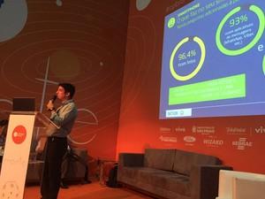Guilherme Camargo, fundador da Sioux, apresenta pesquisa Game Brasil 2015 na Campus Party (Foto: Bruno Souza Araujo/G1)