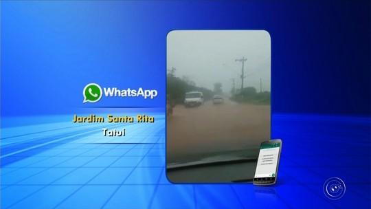 Chuva forte causa alagamentos em cidades da região de Itapetininga