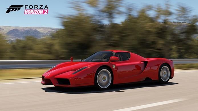 A veloz Enzo Ferrari de 2002 é uma das novas adiações a Forza Horizon 2 (Foto: Divulgação)