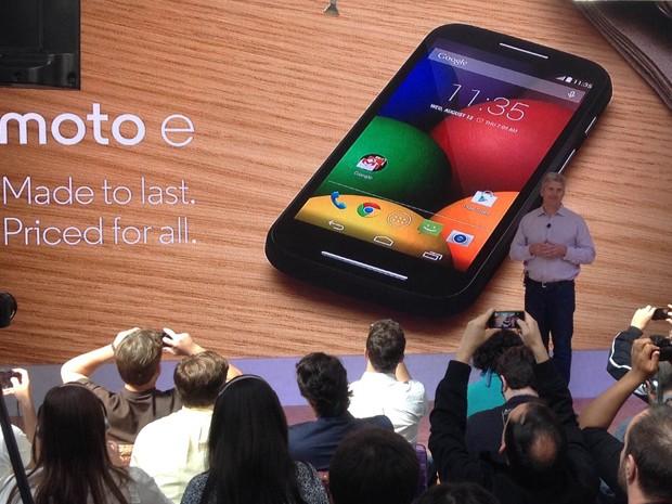 Presidente da Motorola fala em evento em São Paulo (Foto: Gustavo Petró/G1)