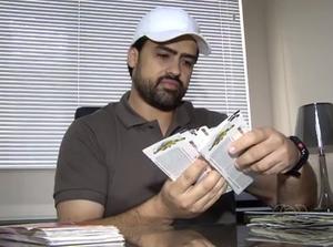 Empresário de Palmas ostenta mais 100 ingressos para as Olimpíadas (Foto: Reprodução/TV Anhanguera)