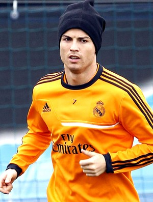 Cristiano Ronaldo treino do Real Madrid (Foto: EFE)