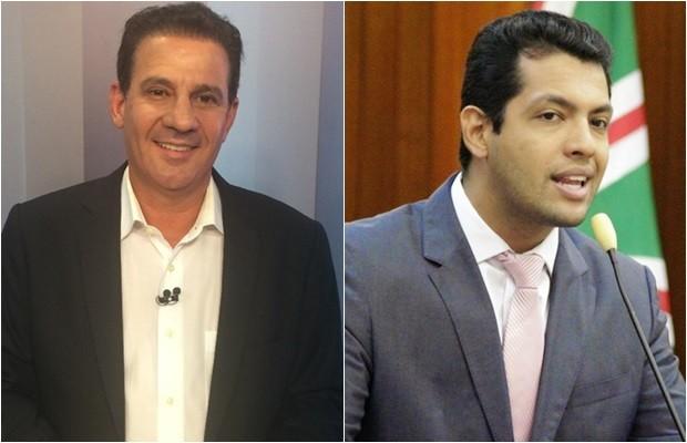 Candidato Vanderlan Cardoso (PSB) e seu vice, Thiago Albernaz (PSDB) (Foto: Montagem/G1)