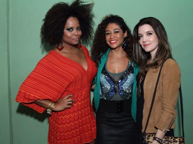 Adriana Bombom, Karen Motta e Larissa Maciel  em festa na Zona Oeste do Rio (Foto: Anderson Borde/ Ag. News)