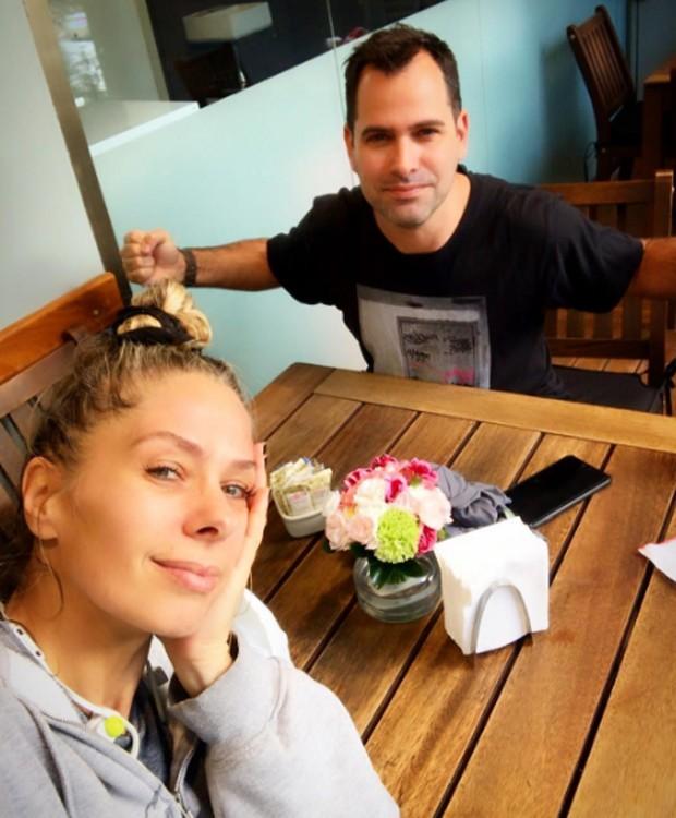 Adriane Galiste e o personal trainer Marcio Lui (Foto: Reprodução/Instagram)