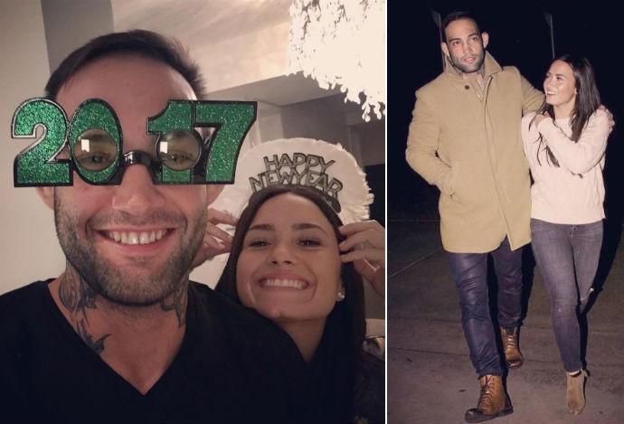 Guilherme Bomba; Demi Lovato (Foto: Reprodução/Instagram)