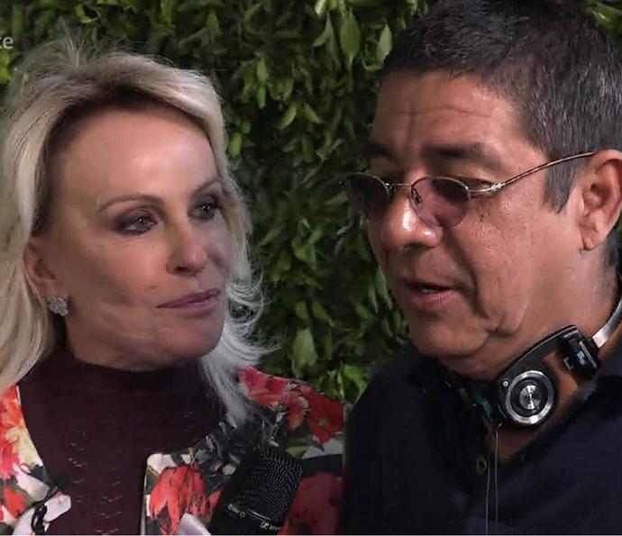 Ana Maria mostra bastidroes da gravação de DVD do Zeca Pagodinho (Foto: TV Globo)