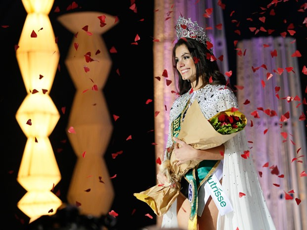 A Miss Rio Grande do Sul, Gabriela Markus, venceu o concurso Miss Brasil (Foto: Divulgação/TV Bandeirantes)