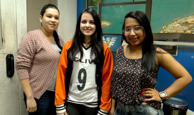 Ana Paula, Juliana e Chrislayne, vencedoras da comissão julgadora do Projeto Câmera Educação (Foto: Fernanda Maciel)