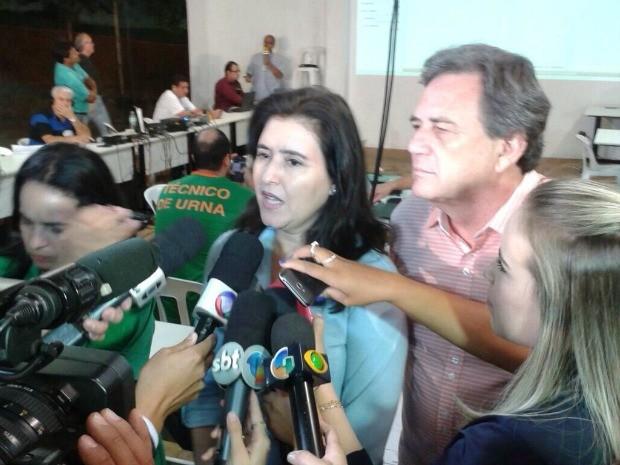 Simone Tebet é eleita para senadora em Mato Grosso do Sul (Foto: José Aparecido/ TV Morena )