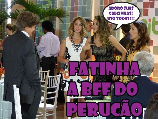 KKKK Ngm resiste a Fatinha, né? Até o perucão tá querendo virar best da linda! (Foto: Malhação / Tv Globo)