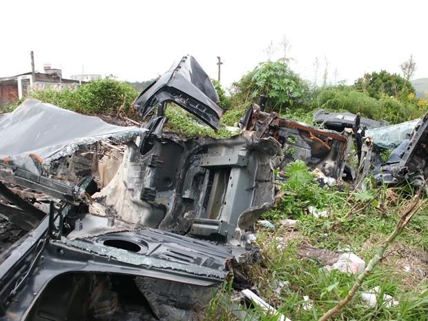 Desmanches irregulares são destino de grande parte dos veículos roubados e furtados (Foto: Divulgação/Polícia Civil)