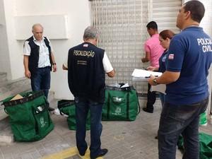 Operação Aleteia desmonta esquema de fraude fiscal e de concorrência desleal em licitações na Bahia (Foto: Divulgação/ Sefaz)