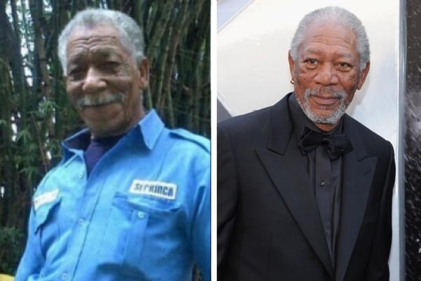 Ramón Blanco é sósia de Morgan Freeman (Foto: Reddit / Getty Images)