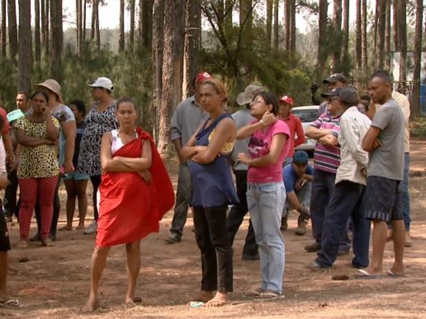 Área do Instituto Florestal, em Itirapina, está ocupada há 10 dias (Foto: Rodrigo Sargaço/ EPTV)