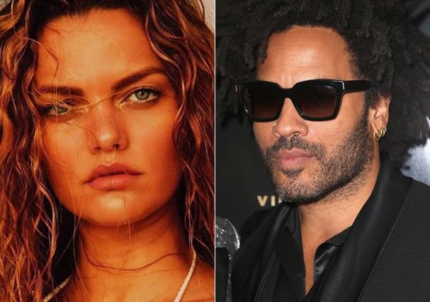 Barbara Fialho e Lenny Kravitz (Foto: Getty Images)