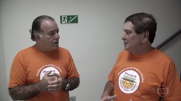 """Tony Ramos conhece o """"Pizza Solidária"""""""
