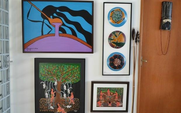 A Secretaria de Estado da Cultura apois exposições em todo o estado (Foto: Valéria Oliveira/ G1 Roraima)