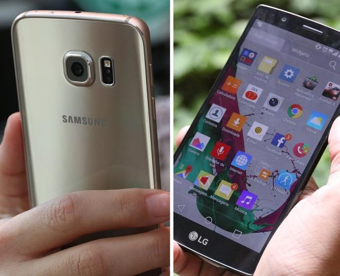 Galaxy S6 e LG G4 foram os celulares mais procurados durante a Black Friday 2015 (Foto: Arte/TechTudo)