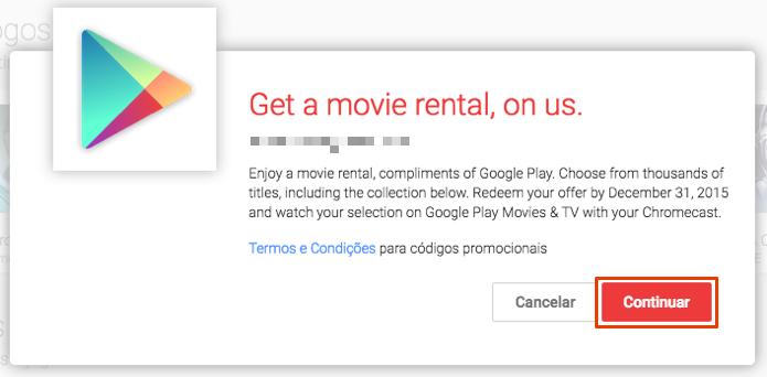Avance para obter um aluguel de filme gratuito (Foto: Reprodução/Paulo Alves)