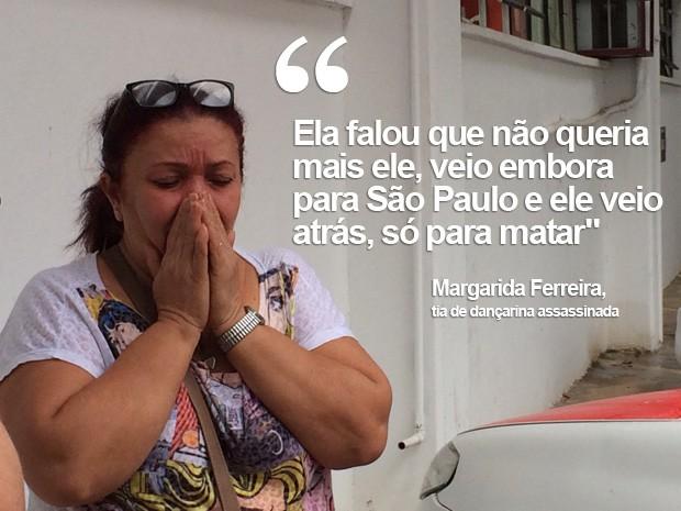 Tia dançarina Ana Carolina Vieira, morta em São Paulo (Foto: Glauco Araújo/G1)