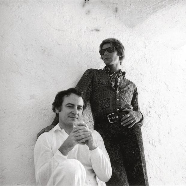 Bergé com Saint Laurent (Foto: Reprodução)