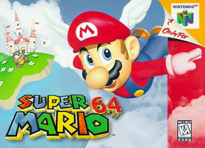 Capa do Super Mario 64 (Foto: Divulgação/Nintendo)