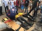 Acidente entre um carro e moto deixa duas pessoas feridas em Santarém