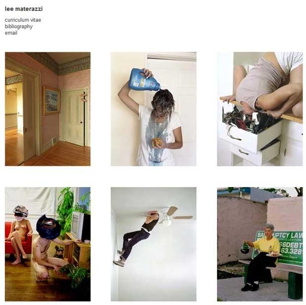 Site da fotógrafa Lee Materazzi reúne fotos em poses incomuns (Foto: Reprodução)