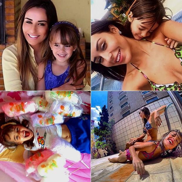 Letícia Santiago BBB14 e a filha (Foto: Arquivo Pessoal)