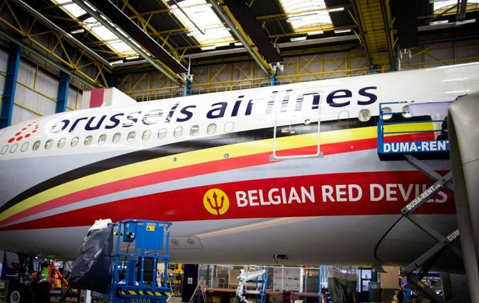 Avião Belga (Foto: Reprodução / Facebook)