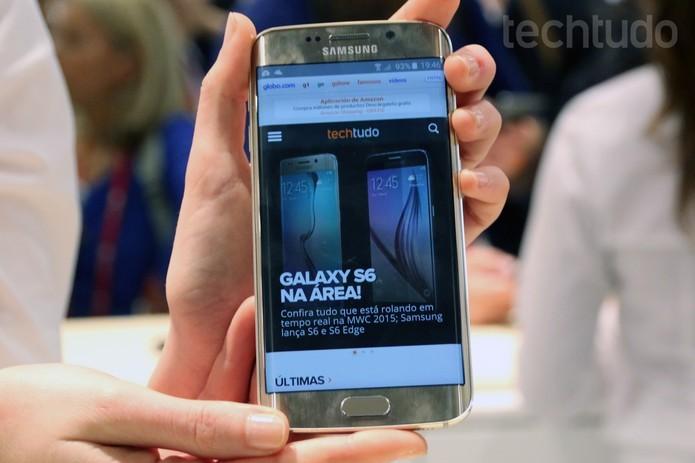 S6 Edge ganhará versão nova em breve (Foto: Isadora Diaz/TechTudo)