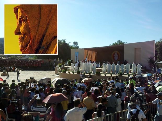 Nhá Chica é beatificada em Baependi. (Foto: Montagem com fotos G1)