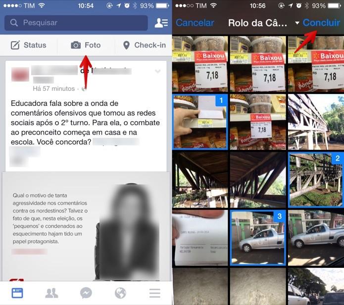 Adicionando novas fotos ao Facebook  (Foto: Reprodução/Helito Bijora)