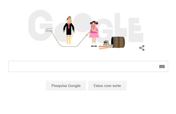 Doodle do Google homenageia série 'El Chavo del Ocho', que completa aniversário de 45 anos. (Foto: Reprodução/Google)