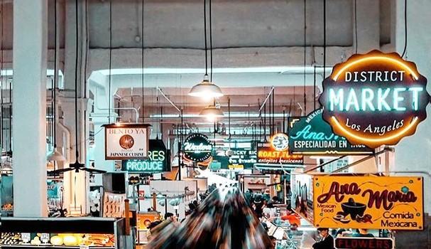 """Pra sentir a atmosfera do """"mercadão"""" de LA (Foto: Reprodução/Instagram)"""