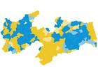 Cássio vence em 124 cidades e Ricardo, em outros 99 municípios