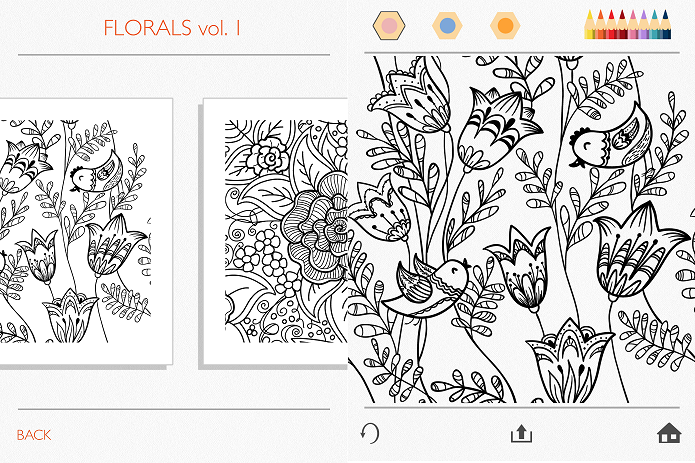 Escolhendo o desenho para colorir (Foto: Felipe Alencar/TechTudo)
