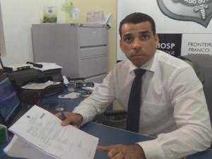 Charles Correia, delegado da Polícia Civil de Oiapoque (Foto: Reprodução/TV Amapá)