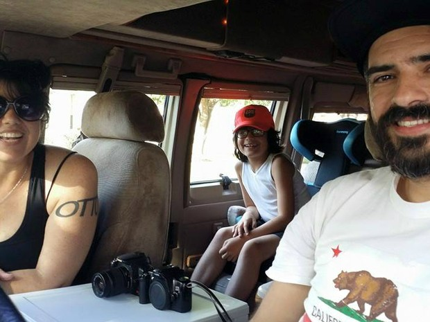 Grasiele, Daniel e Otto percorrem os Estados Unidos fotografando casamentos em uma van adaptada (Foto: Arquivo Pessoal/ Grasi Favoreto)