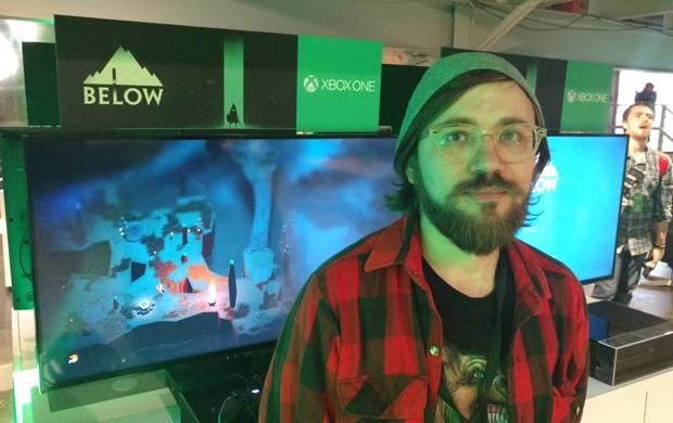 Kris Piotrowski, diretor de criação de 'Below', game que será lançado em 2016 para Windows 10 e Xbox One (Foto: Bruno Araujo/G1)