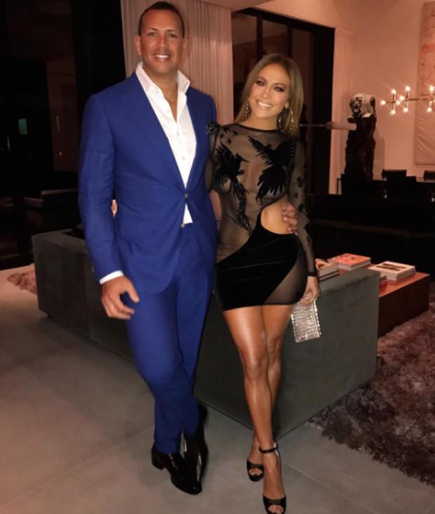 Alex Rodriguez e Jennifer Lopez (Foto: Reprodução)
