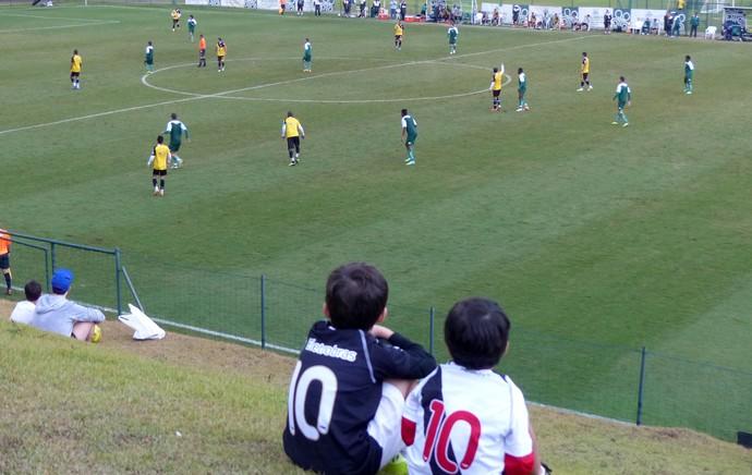 Torcida do Vasco no jogo-treino contra o Guarani (Foto: André Casado)